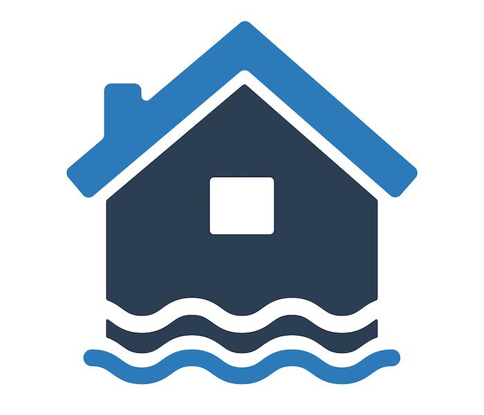 Homes in flood waters