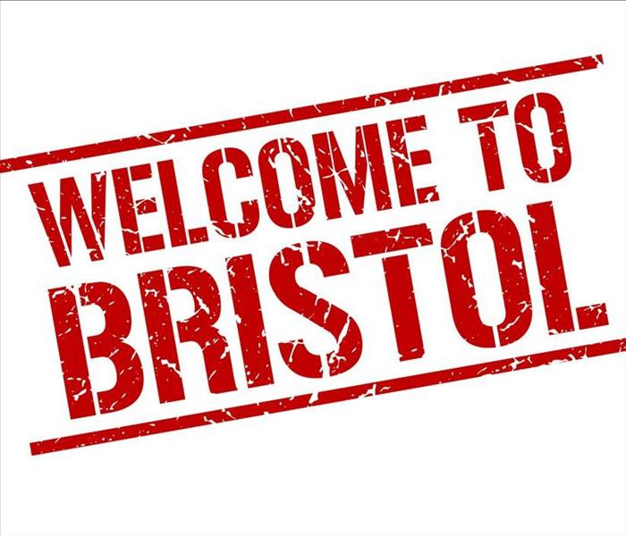 "Sign that says ""Welcome to Bristol."""